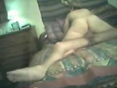 Fat girl drive in home in fron of cam 2