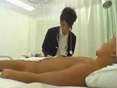 Sexy nurse washes penis