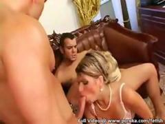 Hungarian hotties in sexy suits dyke out hardcore with glass dildos video 2