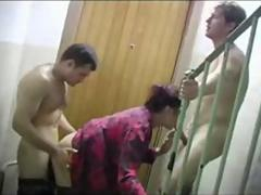 Two brothers fucks mature teacher