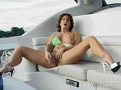 Cynthia Pendragon gets pegged on a boat