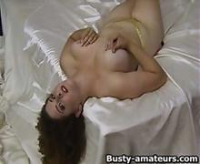 Jonee doing striptease and toying action