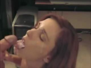 Mature milf with short red hair