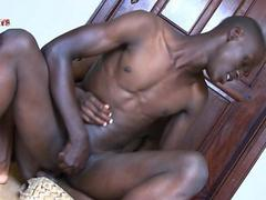 Horny black twinks sucking and ass fucking