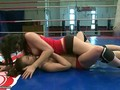 Wild girls in nude wrestling