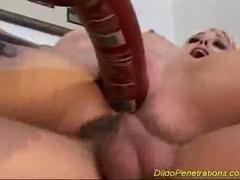 Dildo penetrations in pussy