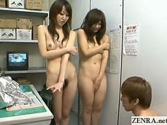 Japan nudist shoplifters hide goods in their pussys