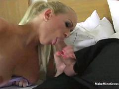 This Blonde babe is Getting Throated