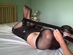Karina Mummified in Pantyhose and Hogtied in Duct Tape 2