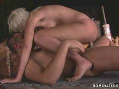Blonde being punished and fucked pretty hard