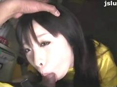 Japanese Chick Gets Cum In Her Mouth After Sucking - Uncensored