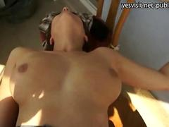 Huge rack amateur babe pussy pounded for money