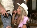 Young cowgirl riding two cocks film