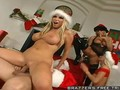 Amazing Chirstmas Orgy with Blondes and Santa Claus