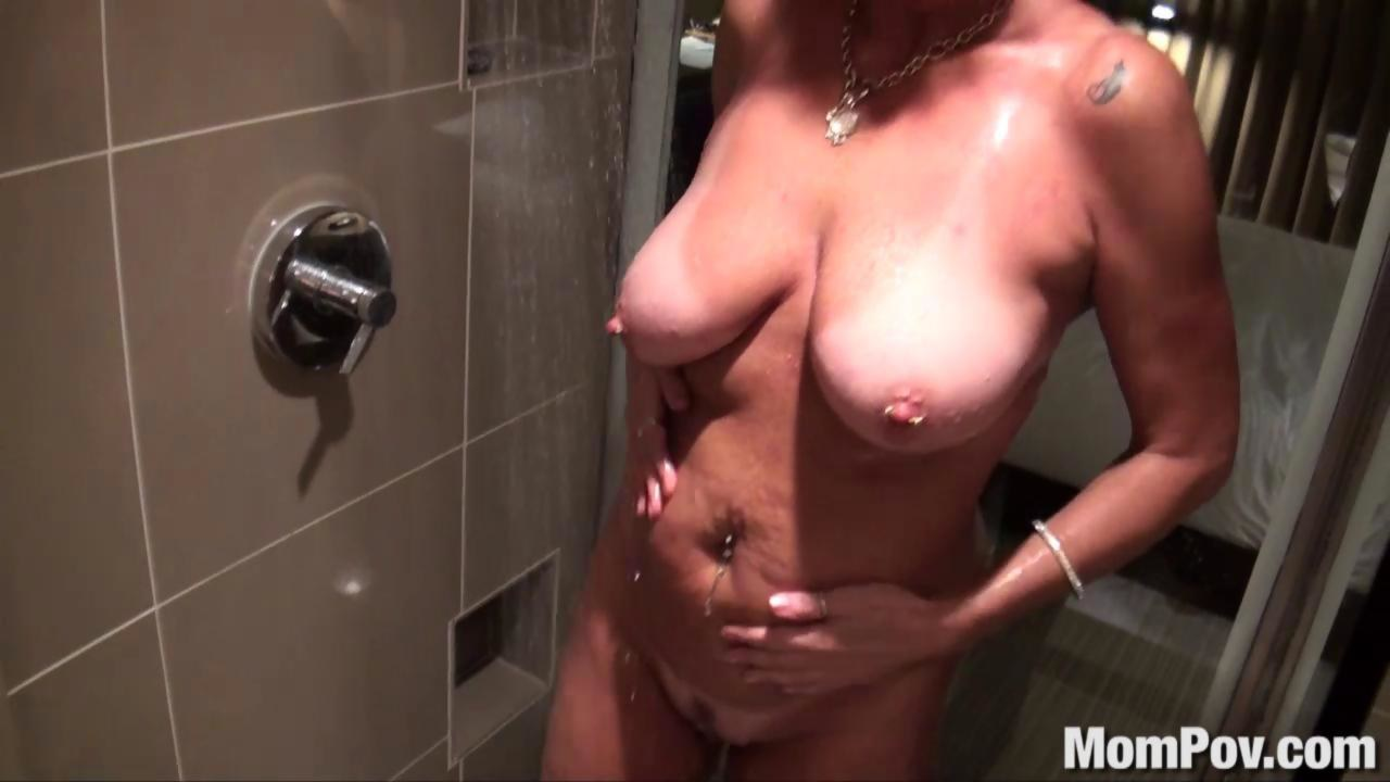Come busty blonde shower fuck