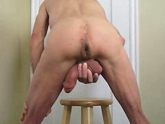 Hard Anal Bareback Self Fuck and Cum