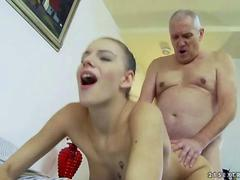 Blubbery old guys  Fuck Teens in a Compilation