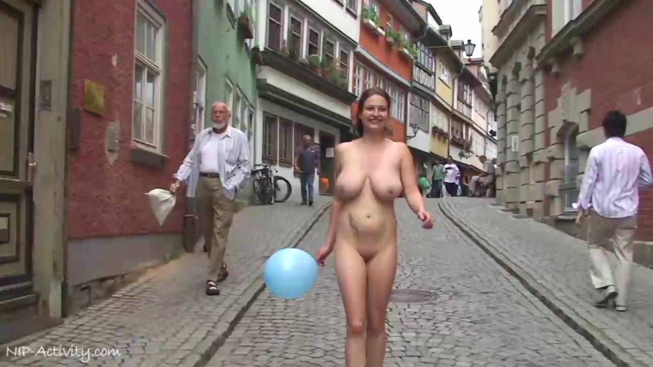 Naughty monalee has fun on public streets 7