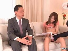 Sexy Japanese news reader gets groped