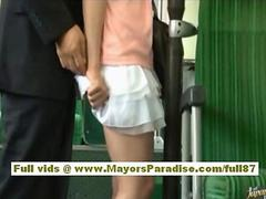 Rio asian teen babe getting her hairy pussy fondled on the bus clip