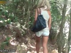 Nasty blonde slut gets horny showing off feature 2