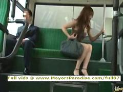 Rio innocent chinese girl is fucked on the bus clip