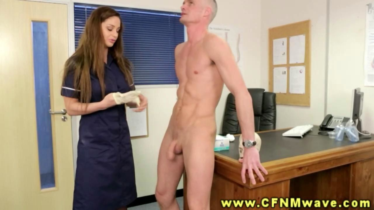 British cfnm femdoms tug in front of voyeurs 7