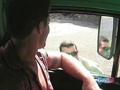 A cop being fucked by the truck driver