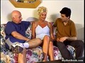 Mature blonde gets her holes inspected by two horny dudes