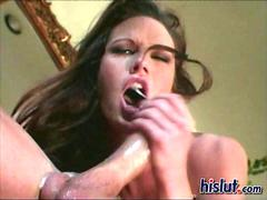 Stunning babe gets nasty while sucking and fucking