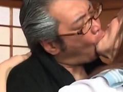 Petite Asian school dolls licked and fucked in mature gangbang