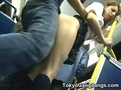 White Teen Public Bus Sex in Japan