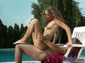Curly teen beauty Polina gets laid outside