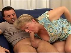 Grandma With Big Tits Gets Fucked and Facialized