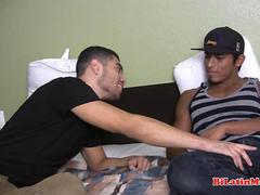 Hot muscular Latino fucking