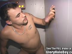 Brooklyn Boy Blowing Strangers in Glory Hole Booth!