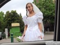 Rejected bride fucks in a strangers car