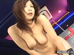 Sex toys make this Asian stripper happy
