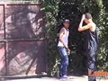 Fiery naked gay Latinos cornholing in the garden