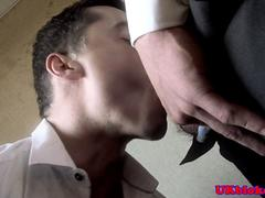 British hunk duo fuck and wank together