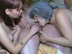 Old granny and grandpa love the sex thats going on