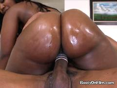 Naughty Nina Rotti has a nice oily ass to be fucked