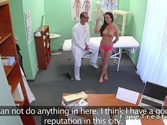 Doctor fucking beautiful amateur in fake hospital