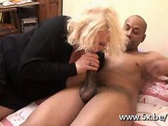 French mature Kate fucked by a black cock