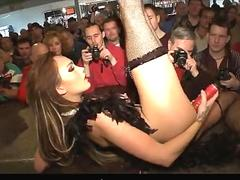Sexy stripper on live stage