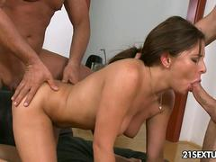 Office threesome sex with Ally Jones