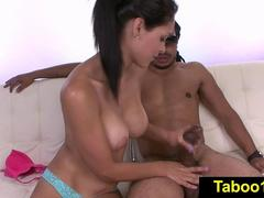 FetishNetwork Jasmine Caro sensual HJ for stepbro