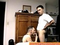 Amateur bloke blown by tattooed gay dilf