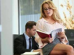 Perfect office sex with horny secretary