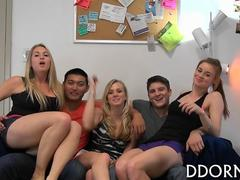 Bisex college blonde seems to love dick more than pussy